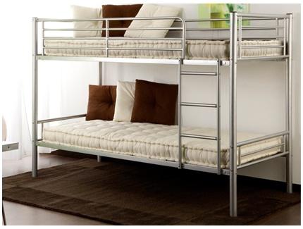 lits superpos s duotis 2 couchages 90x190cm argent acheter ce produit au meilleur prix. Black Bedroom Furniture Sets. Home Design Ideas