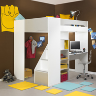 lit mezzanine gami 90 x 200 cm acheter ce produit au meilleur prix. Black Bedroom Furniture Sets. Home Design Ideas