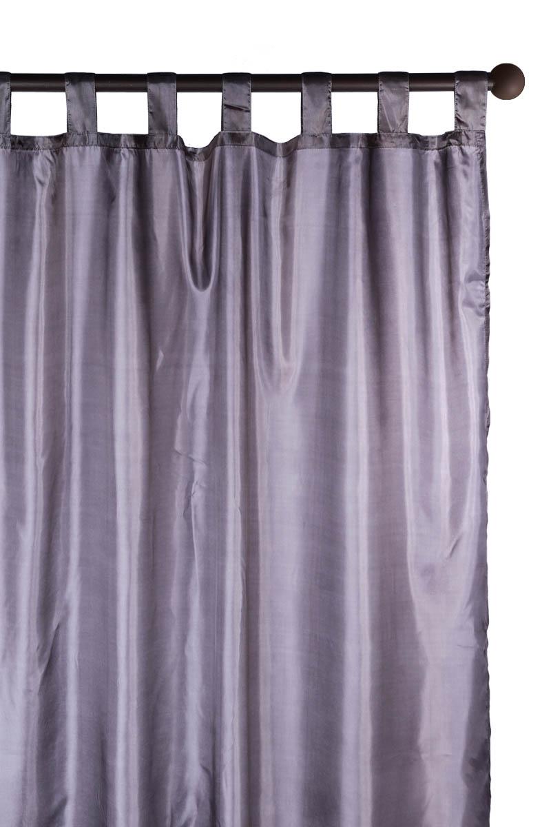 rideau passants en satin uni acheter ce produit au meilleur prix. Black Bedroom Furniture Sets. Home Design Ideas