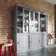 buffet vaisselier 6 portes coulissantes working en pin. Black Bedroom Furniture Sets. Home Design Ideas