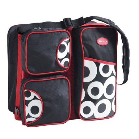 sac langer super nomade rouge noir acheter ce produit au meilleur prix. Black Bedroom Furniture Sets. Home Design Ideas