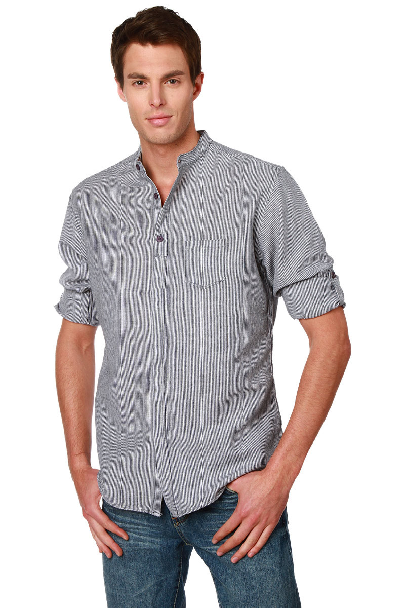 chemise col mao manches longues retroussables homme acheter ce produit au meilleur prix. Black Bedroom Furniture Sets. Home Design Ideas