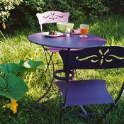 Salon de jardin opera/bagatelle - table ronde d67cm + 2 chaises ...