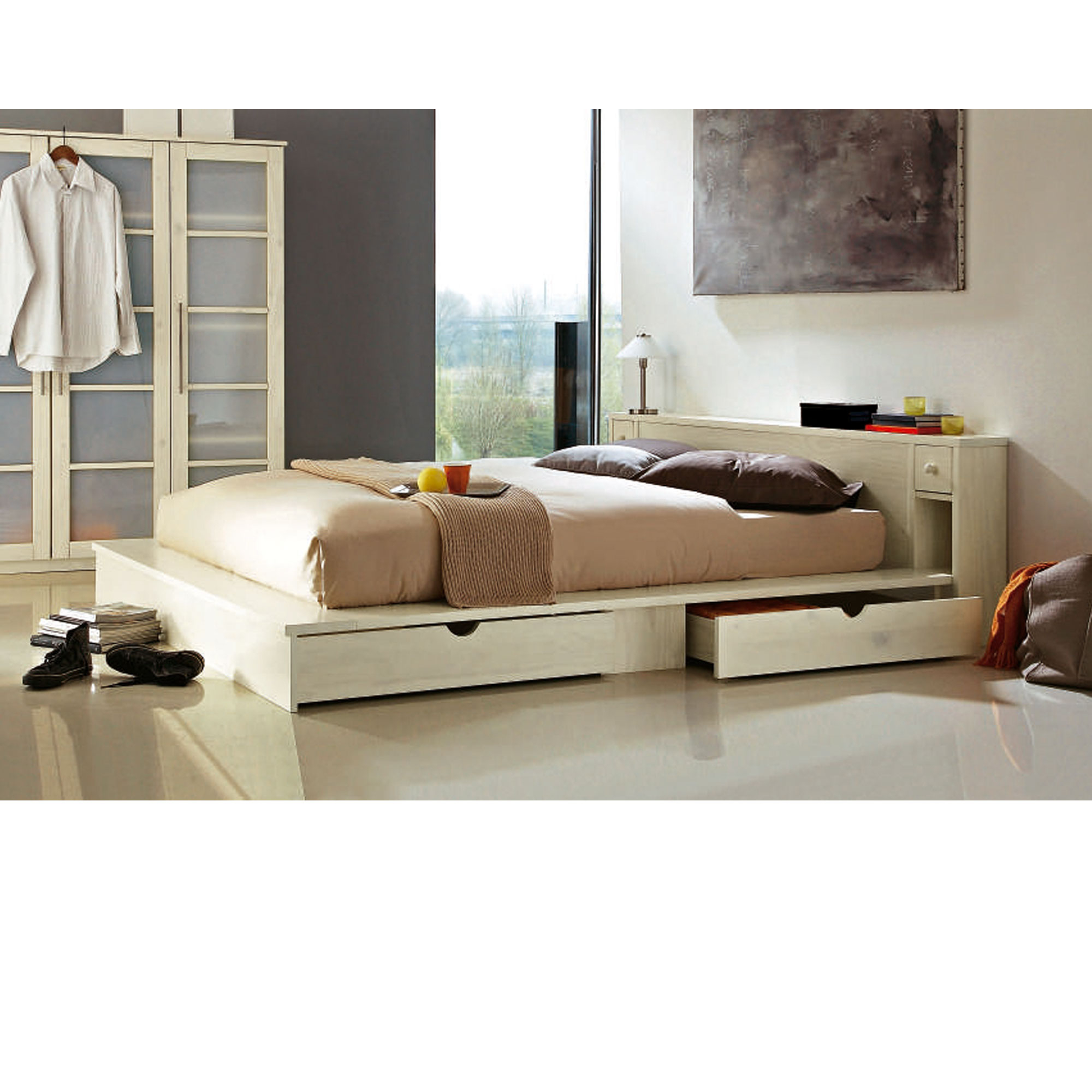 lit t te de lit sommier ontario 160 x 200 cm blanc anniversaire 40 ans acheter ce. Black Bedroom Furniture Sets. Home Design Ideas