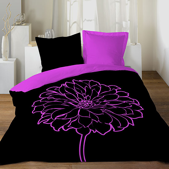 parure de lit 39 magnolia 39 100 coton acheter ce produit au meilleur prix. Black Bedroom Furniture Sets. Home Design Ideas
