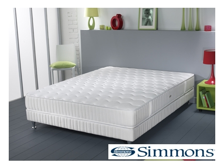 ensemble sommier matelas ressorts ensach s evasion de simmons 160x200 acheter ce produit. Black Bedroom Furniture Sets. Home Design Ideas