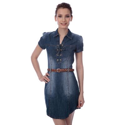 Robe en jean courte femme