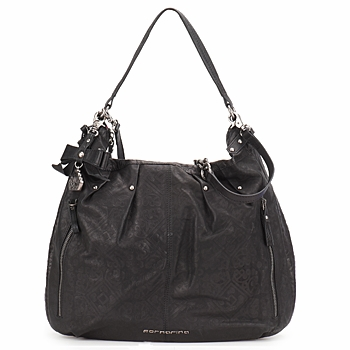good sac main fornarina emilie leather hobo with lit baladin. Black Bedroom Furniture Sets. Home Design Ideas
