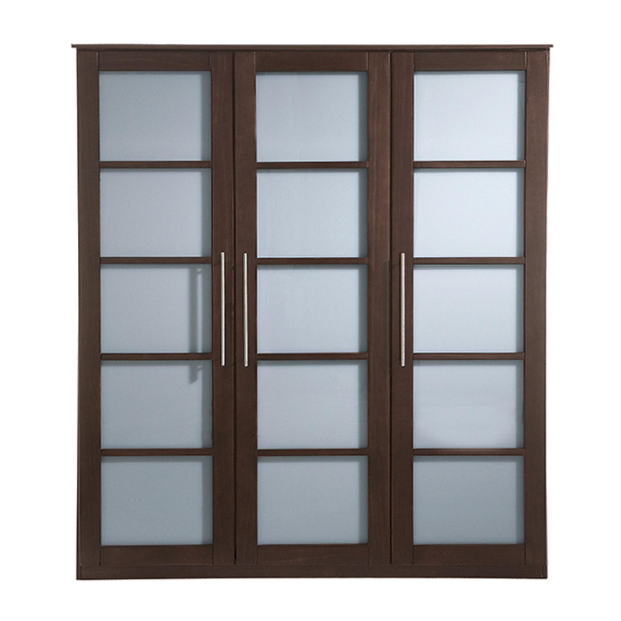 Porte coulissante wenge maison design - Rail armoire coulissante ...