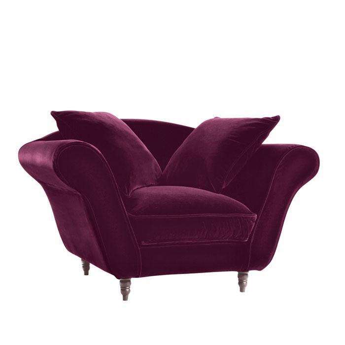 fauteuil glamour aubergine anniversaire 40 ans. Black Bedroom Furniture Sets. Home Design Ideas