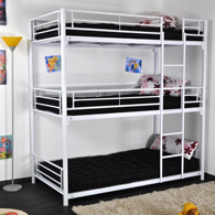 lit superpos 3 couchages en m tal gris acheter ce. Black Bedroom Furniture Sets. Home Design Ideas