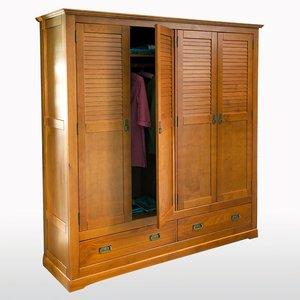 armoire 4 portes en pin massif baya acheter ce produit au meilleur prix. Black Bedroom Furniture Sets. Home Design Ideas