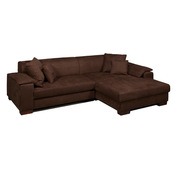 canap d 39 angle droit convertible microfibre bolero couleur chocolat acheter ce produit au. Black Bedroom Furniture Sets. Home Design Ideas