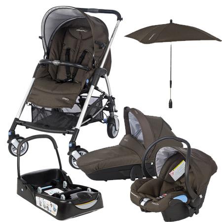 pack streety avec base et ombrelle brown earth acheter. Black Bedroom Furniture Sets. Home Design Ideas