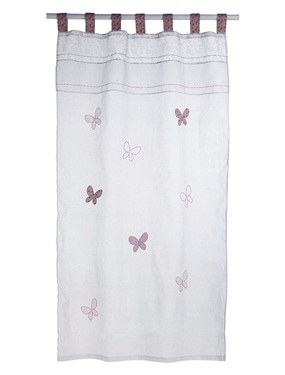 Rideau bebe brode papillons chambre p tit nid vertbaudet - Acheter ...