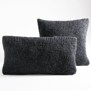 housse de coussin tricot knitty gris anthracite acheter. Black Bedroom Furniture Sets. Home Design Ideas