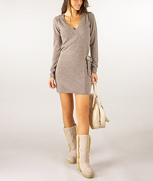 robe pull avec noeud laine cachemire acheter ce produit au meilleur prix. Black Bedroom Furniture Sets. Home Design Ideas