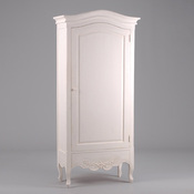 bonneti re miroir plein pied l82xp39xh180cm acajou patin blanc elisabeth acheter ce produit. Black Bedroom Furniture Sets. Home Design Ideas