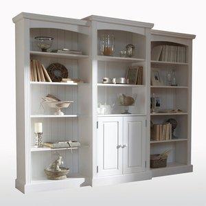 biblioth que triple pin massif acheter ce produit au meilleur prix. Black Bedroom Furniture Sets. Home Design Ideas