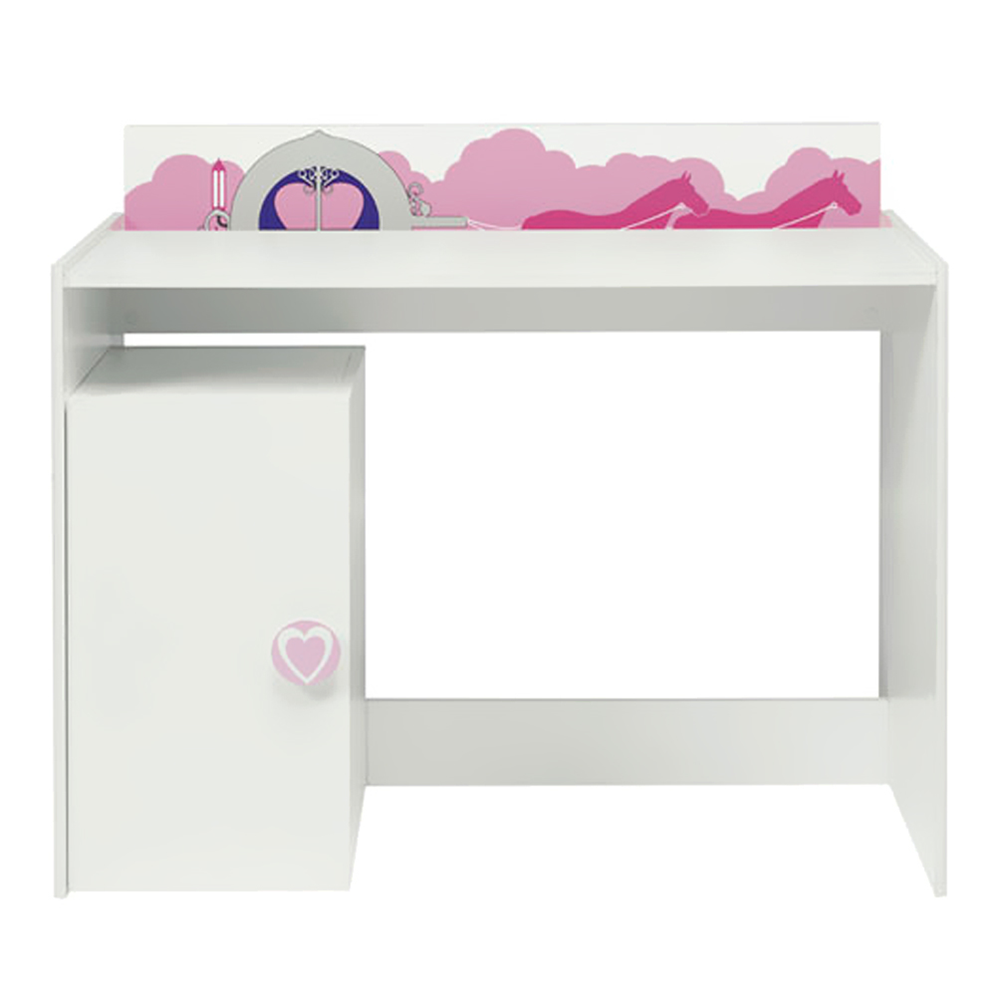 bureau fille blanc simple bureau enfant en bois blanc l cm berlingot with bureau fille blanc. Black Bedroom Furniture Sets. Home Design Ideas