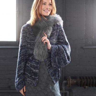 gilet cape femme grande taille votre mode du 38 au 58 acheter ce produit au meilleur prix. Black Bedroom Furniture Sets. Home Design Ideas