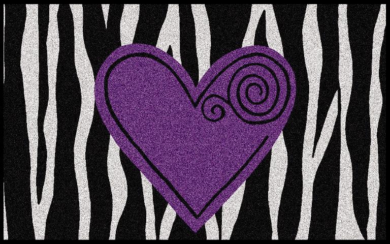 Tapis Wash Dry Design Coeur Violet Acheter Ce Produit Au Meilleur Prix