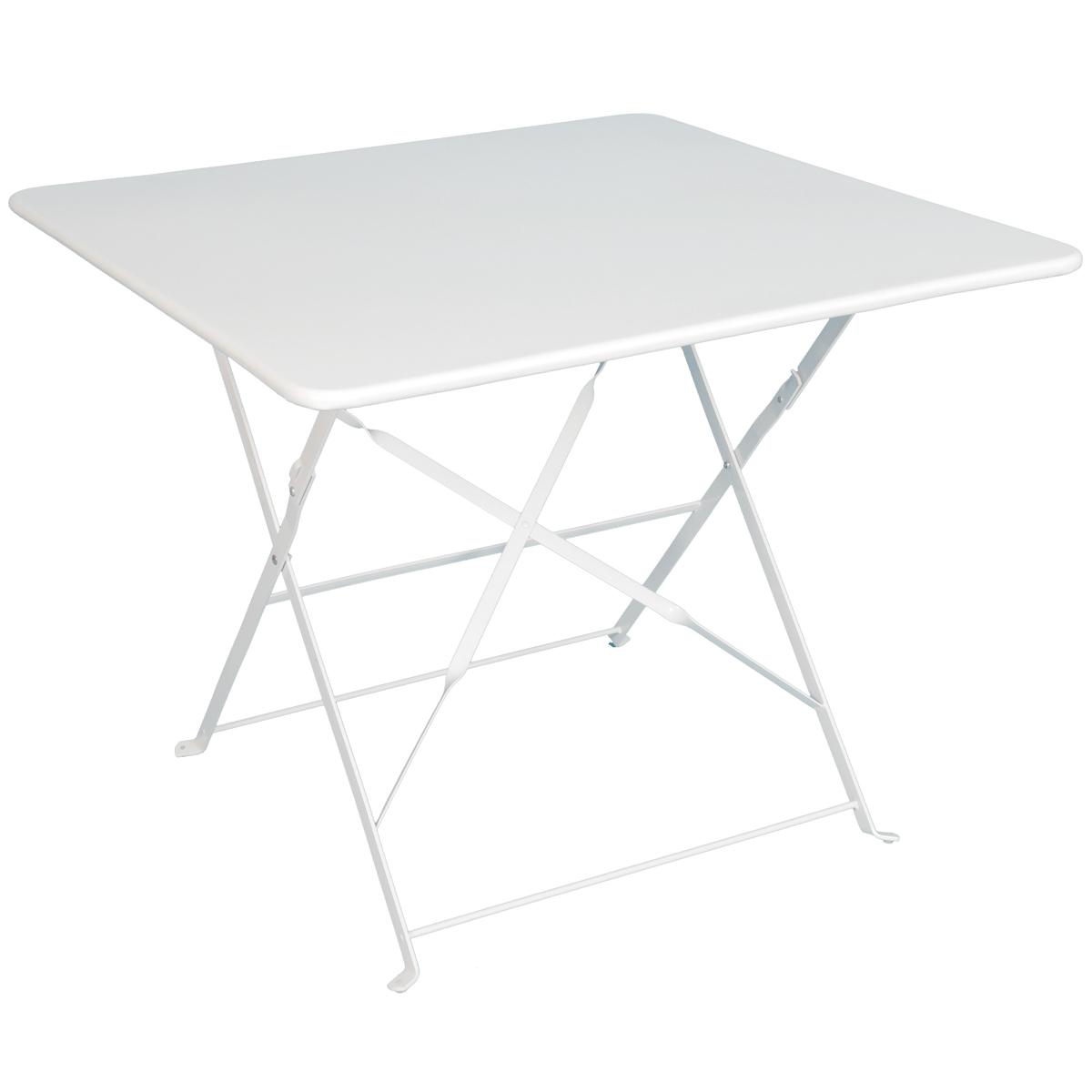Table jardin metal blanche des id es int ressantes pour la conception de des for Dessin de table de jardin