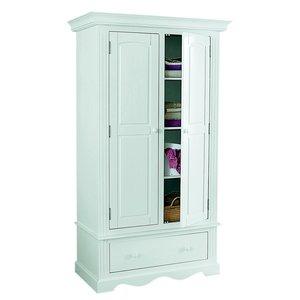 armoire 2 portes pin massif penderie et ling re acheter ce produit au meilleur prix. Black Bedroom Furniture Sets. Home Design Ideas