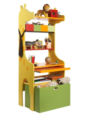 Etagere-bureau girafe chambre enfant theme savane party vertbaudet ...
