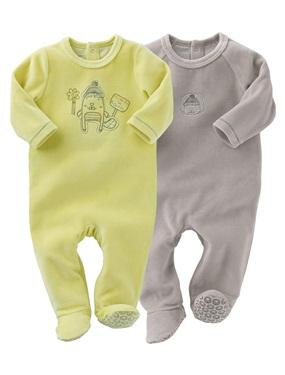 949609504617c Lot de 2 pyjamas bebe garcon en velours vertbaudet - Acheter ce ...