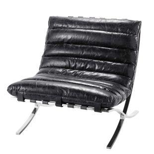 Fauteuil cuir noir beaubourg Acheter ce produit au meilleur prix
