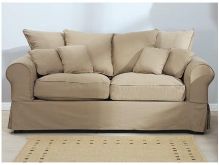 Canap 2 places d houssable tissu clara acheter ce produit au meilleur prix - Canape 3 2 places tissu ...