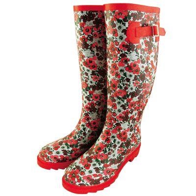 Chaussures femme bottes en caoutchouc imprimé fleuri du 36 au 41