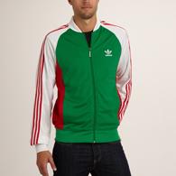 veste homme adidas vert rouge