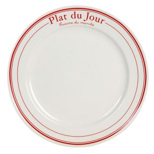 assiette plate bistrot rouge acheter ce produit au. Black Bedroom Furniture Sets. Home Design Ideas