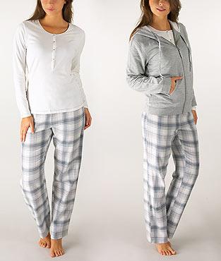 Pyjama veste boutonnee femme