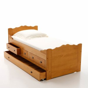 lit bateau avec tiroir lit pin massif acheter ce produit au meilleur prix. Black Bedroom Furniture Sets. Home Design Ideas