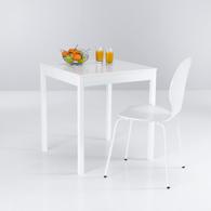 table de cuisine carr e 2 couverts laqu e blanche acheter ce produit au meilleur prix. Black Bedroom Furniture Sets. Home Design Ideas