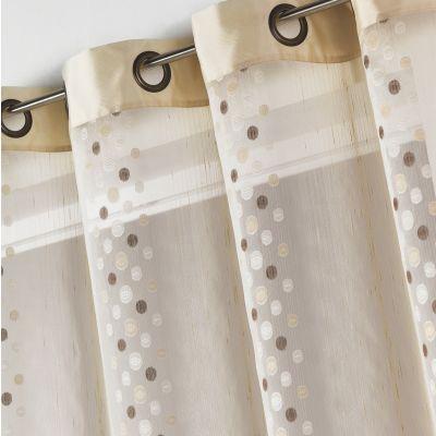 voilage organza illets 4 coloris pour grandes fen tres en polyester acheter ce produit au. Black Bedroom Furniture Sets. Home Design Ideas