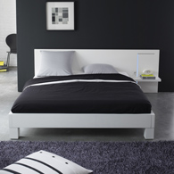 meubles design salle lit avec chevet integre. Black Bedroom Furniture Sets. Home Design Ideas