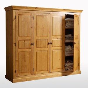 armoire pin massif penderie et ling re haut 190 cm. Black Bedroom Furniture Sets. Home Design Ideas
