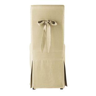 housse de chaise n ud lin margaux acheter ce produit au meilleur prix. Black Bedroom Furniture Sets. Home Design Ideas
