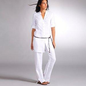 chemise longue manches longues en lin acheter ce produit. Black Bedroom Furniture Sets. Home Design Ideas