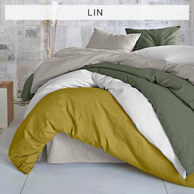 cache sommier uni blanc en coton et lin acheter ce produit au meilleur prix. Black Bedroom Furniture Sets. Home Design Ideas