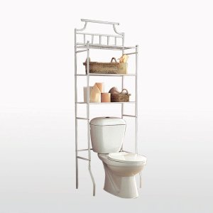 Etag re de rangement pour toilettes 2 finitions acheter - Rangement au dessus des toilettes ...