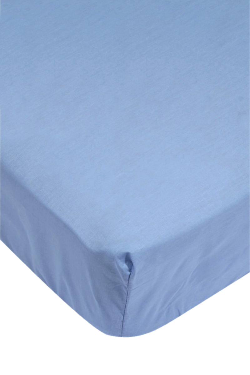 drap housse bleu ciel 57 fils 140 x 190 cm acheter ce produit au meilleur prix. Black Bedroom Furniture Sets. Home Design Ideas