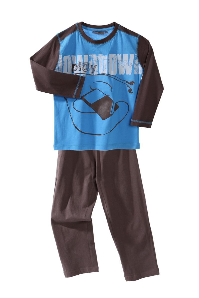 pyjama dinosaure bicolore gar on en jersey du 2 au 14 ans. Black Bedroom Furniture Sets. Home Design Ideas