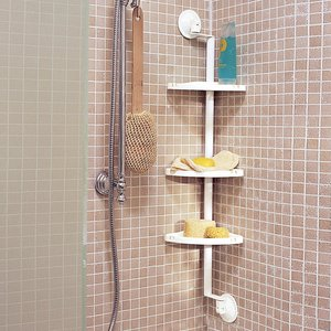 Etag re d 39 angle pour baignoire ou douche acheter ce produit au meilleur - Etagere de baignoire ...