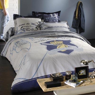 parure housse de couette demi de m l e 1 ou 2 taies acheter ce produit au meilleur prix. Black Bedroom Furniture Sets. Home Design Ideas