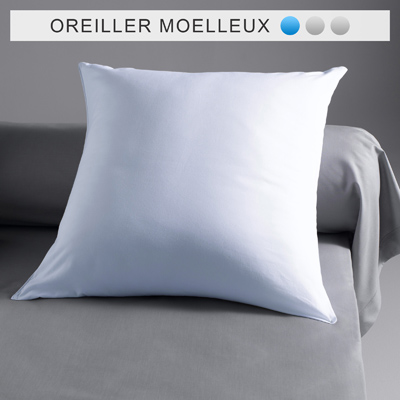 oreiller naturel trait greenfirst anti acariens pyrenex belle literie 70 duvet de canard 30. Black Bedroom Furniture Sets. Home Design Ideas